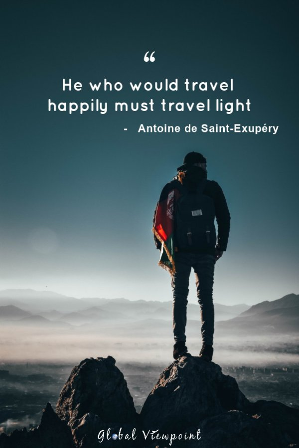 Traveling light is so important.