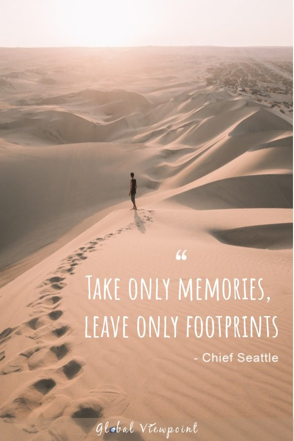 Take only memories travel quote.