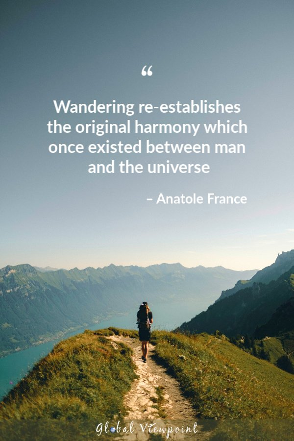 One of the best wanderlust travel quotes.