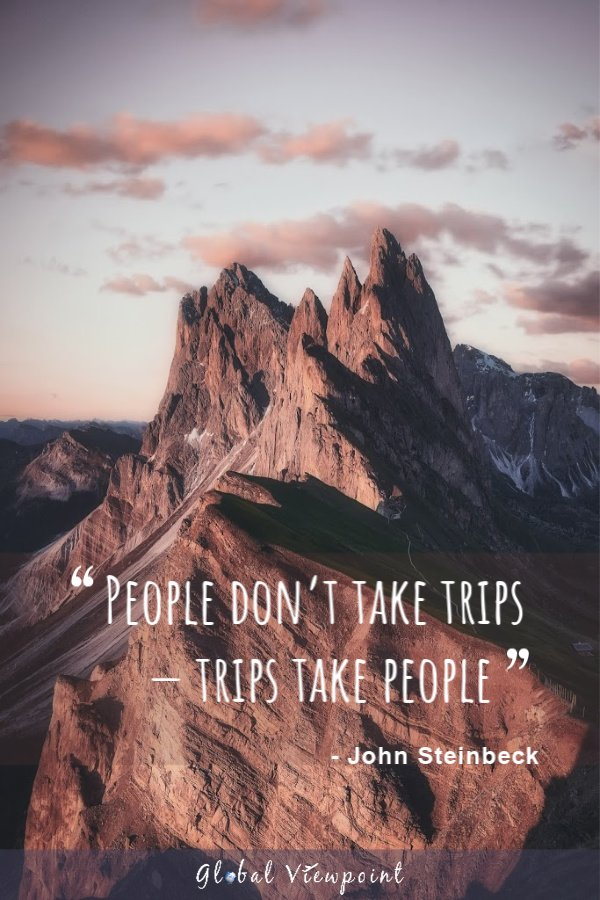 Trips take people.