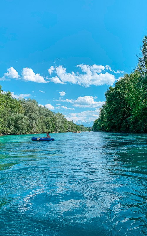 A beautiful day on the Aare River near Bern.