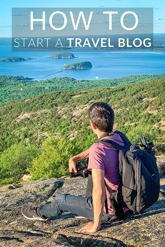How to start a successful travel blog and get paid Pinterest image