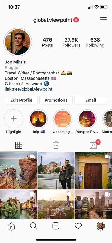 Use Instagram to promote and jump start your travel blog