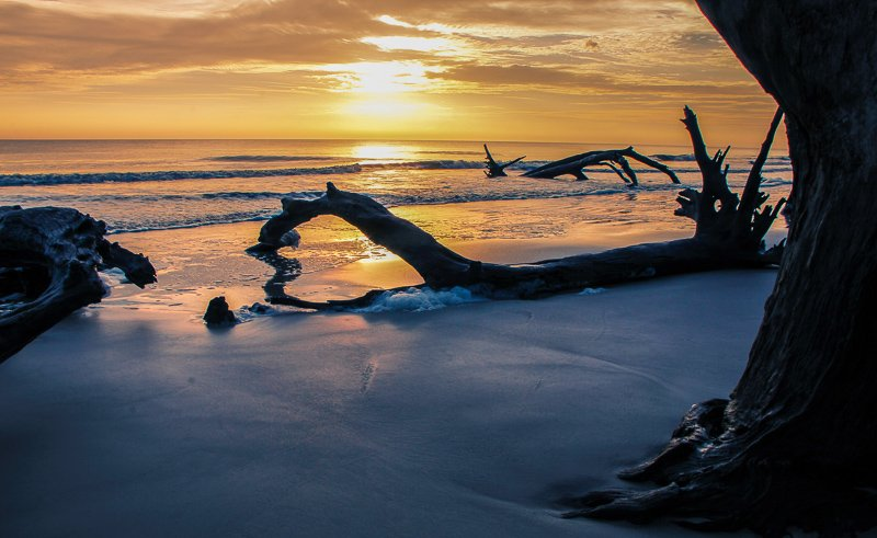 Jekyll Island has nearly 10 miles of white sand beaches. Driftwood Beach is the most popular. It's definitely one of the best unknown vacation spots in the US.