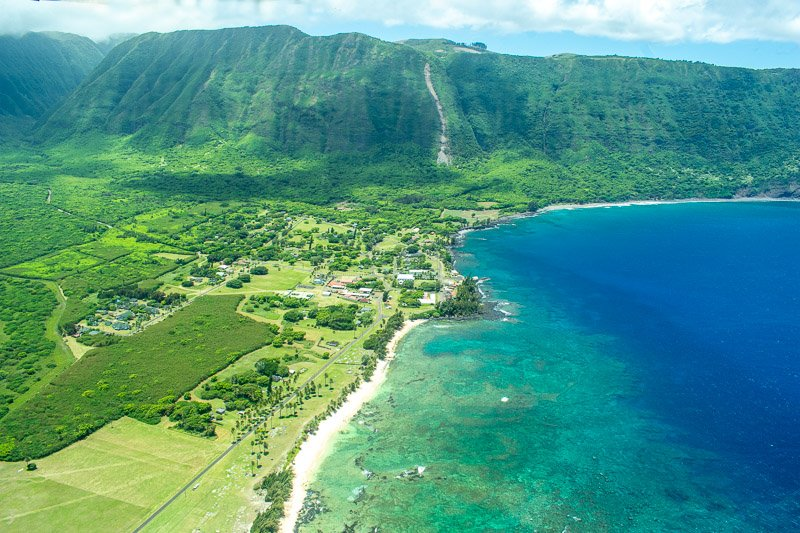 Kalaupapa is a remote peninsula on the island where 8,000 lepers were held between 1866-1969.