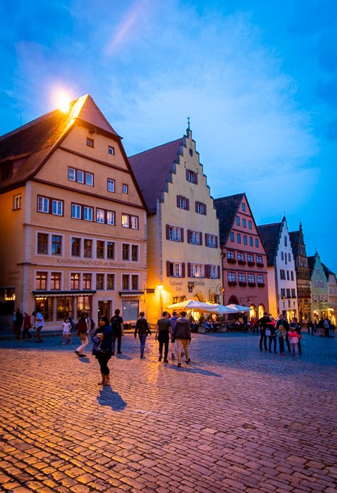 Rothenburg ob der Tauber is also picture-worthy at night.