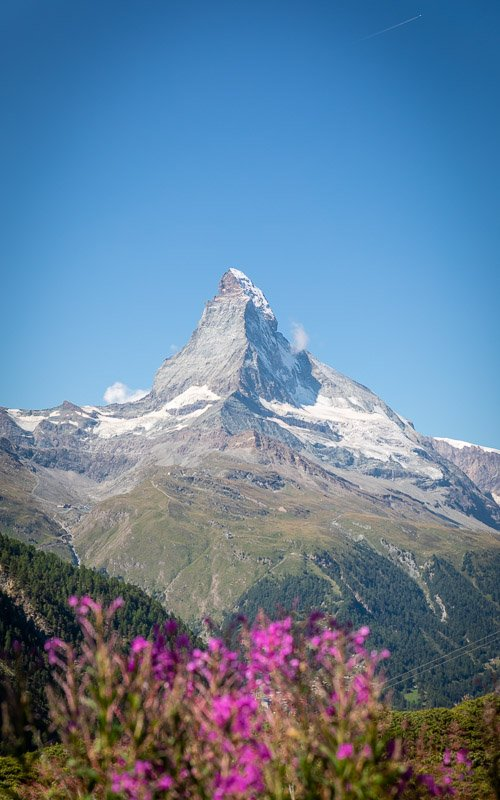 The Matterhorn is one of the most iconic mountains in the world and one of the most beautiful places in Switzerland.