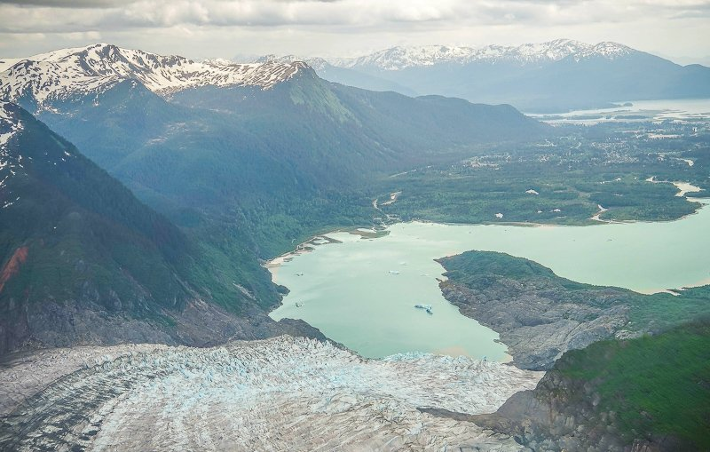 Mendenhall Glacier is one of the best hidden gems and vacation spots in the US.