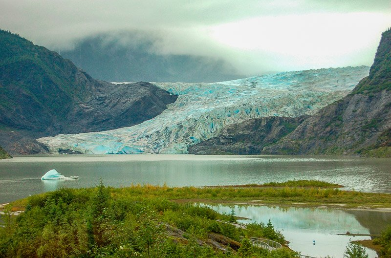 Mendenhall Glacier is one of the best hidden gems in the US, though sadly it's receding every year.