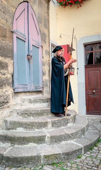 Hans Georg Baumgartner gives a fascinating Night Watchman Tour of Rothenburg ob der Tauber.