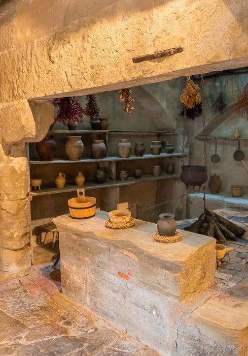 A 12th-century kitchen in a convent in Rothenburg ob der Tauber.