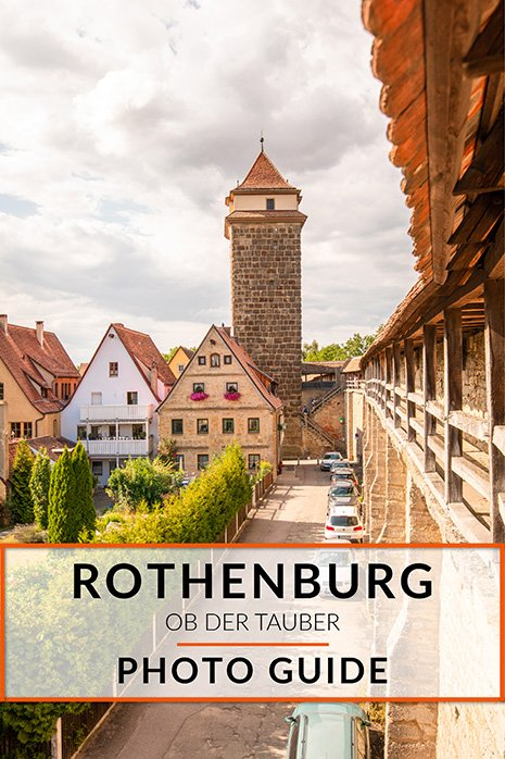 Rothenburg ob der Tauber best photo spots and picture opportunities: Pinterest image.