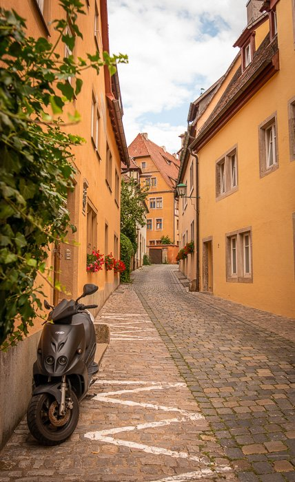 A secluded, hidden gem in the heart of Rothenburg's Old Town (Altstadt)