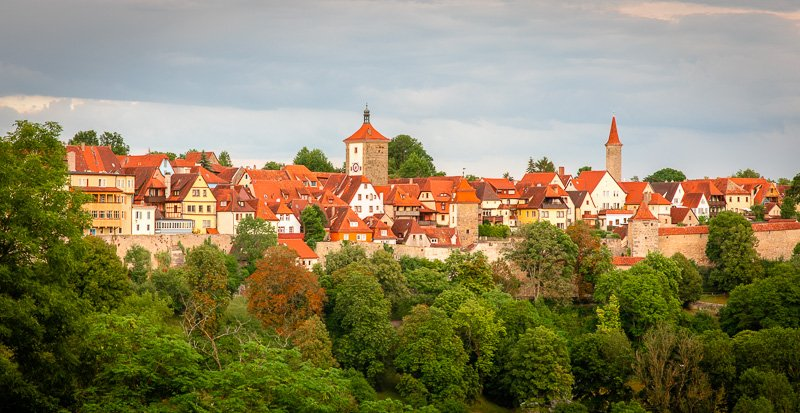 The skyline of Rothenburg ob der Tauber.