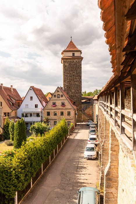 These old walls in Rothenburg ob der Tauber have survived numerous wars and conflicts over the centuries.