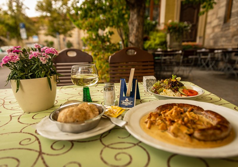 The Akzent Hotel Schranne in Rothenburg ob der Tauber has some amazing authentic dishes!