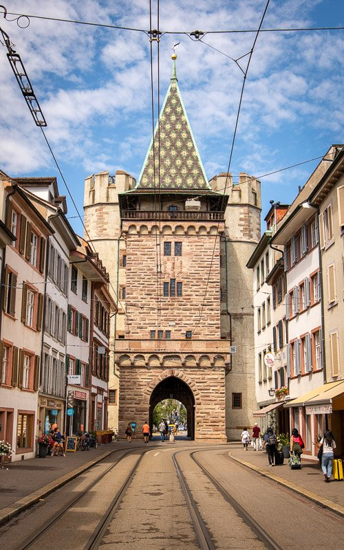 Spalen Gate, one of the most beautiful places in Switzerland, dates back to the 1400s.