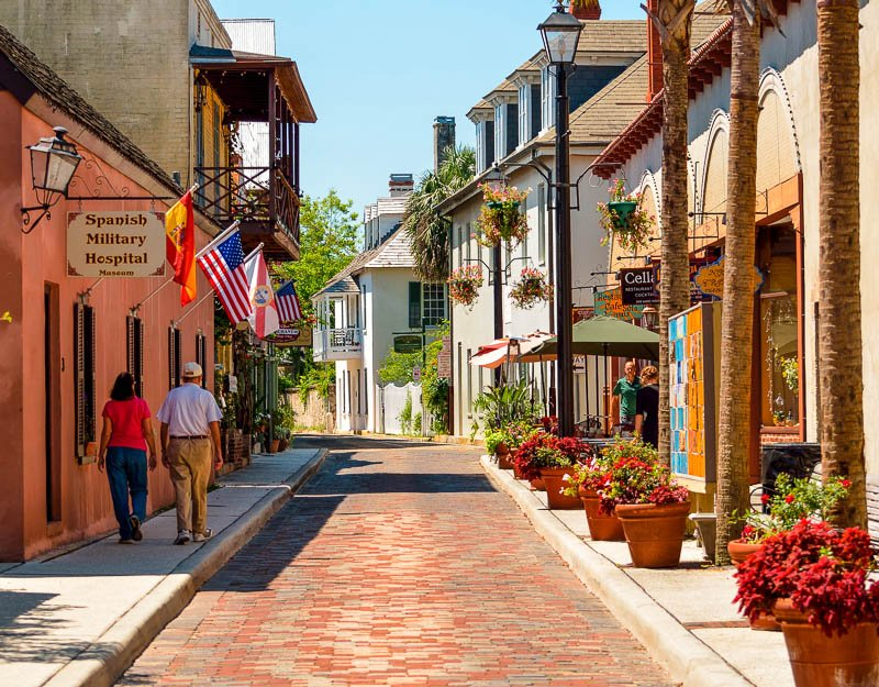 Aviles Street in St. Augustine is the oldest street in the USA. It's among the best hidden gem vacation spots on the east coast.