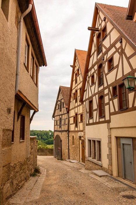 Rothenburg ob der Tauber has so many beautiful half-timbered homes, ideal for taking photos.