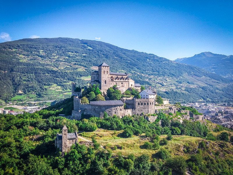 Valère Basilica dates back to the 13th-century with epic views of the valley and surrounding mountains. There's an organ inside the castle church that's more than 500 years old.
