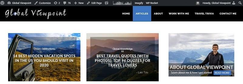 Using WordPress for your travel blog