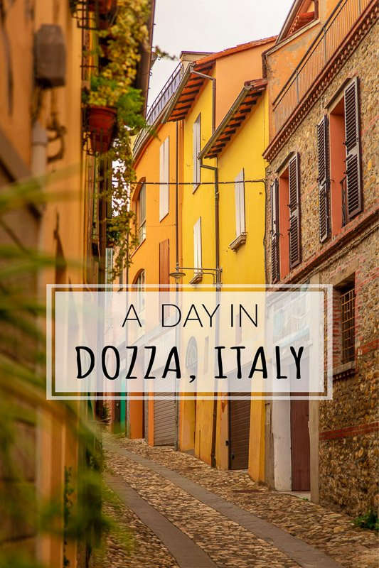 A Day in Dozza, Italy pinterest image