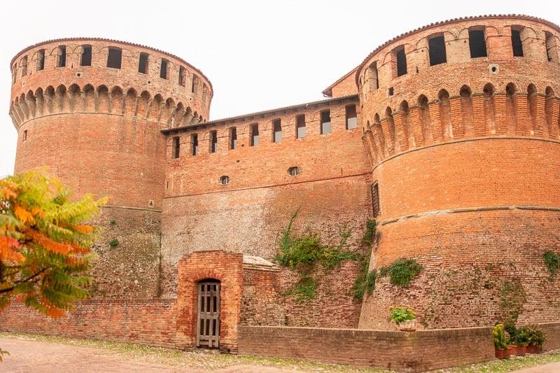The Rocca di Dozza (Dozza Castle) is a precious sight that you'll spot during a day trip in Dozza, Italy.