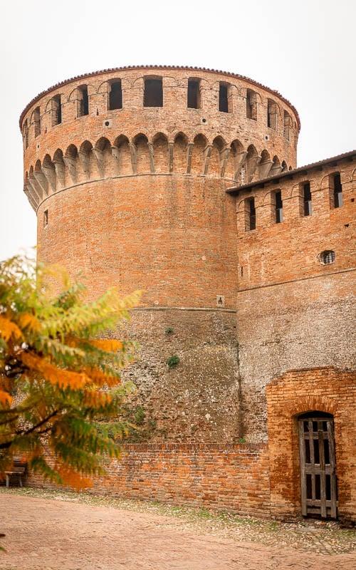 La Scuderia in Dozza has a great view of the castle.