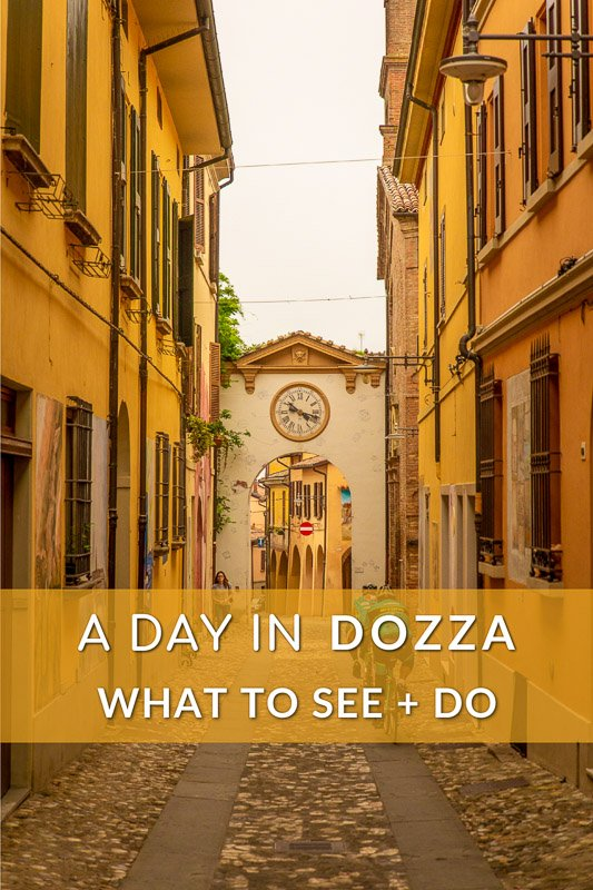 A day in Dozza, Italy, and things to do, pinterest image