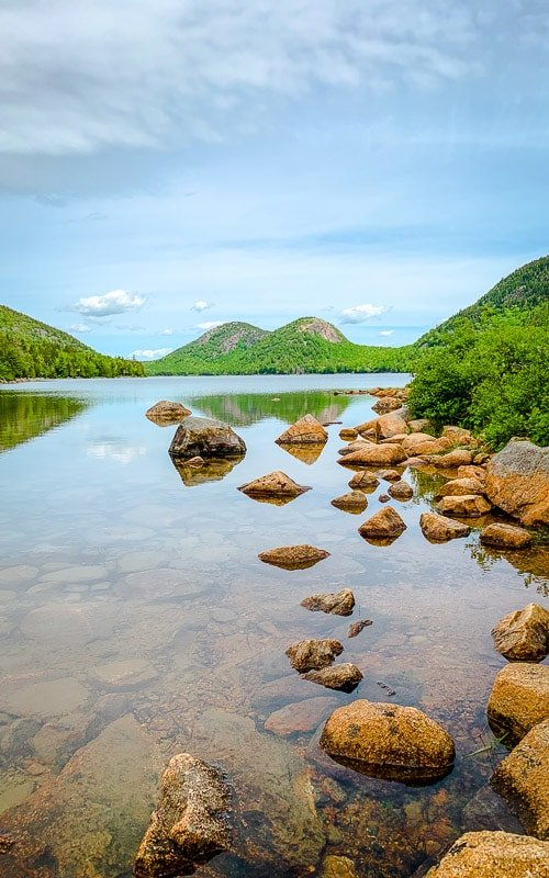 Jordan Pond in Acadia National Park is a highlight of any New England road trip itinerary.