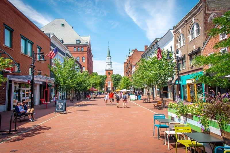 Church Street in Burlington, Vermont.