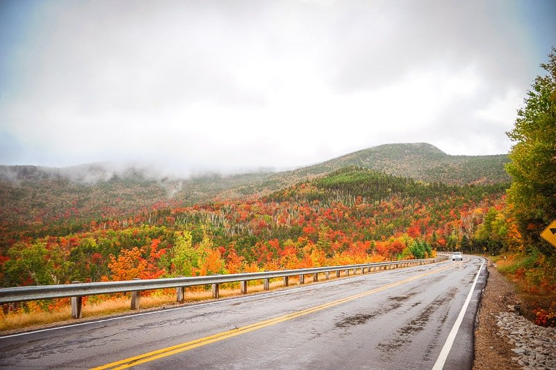 The White Mountains are a popular place for leaf peeping in the fall.