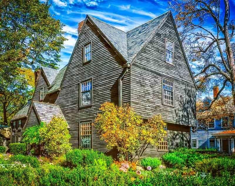 The House of the Seven Gables in Salem, Massachusetts.