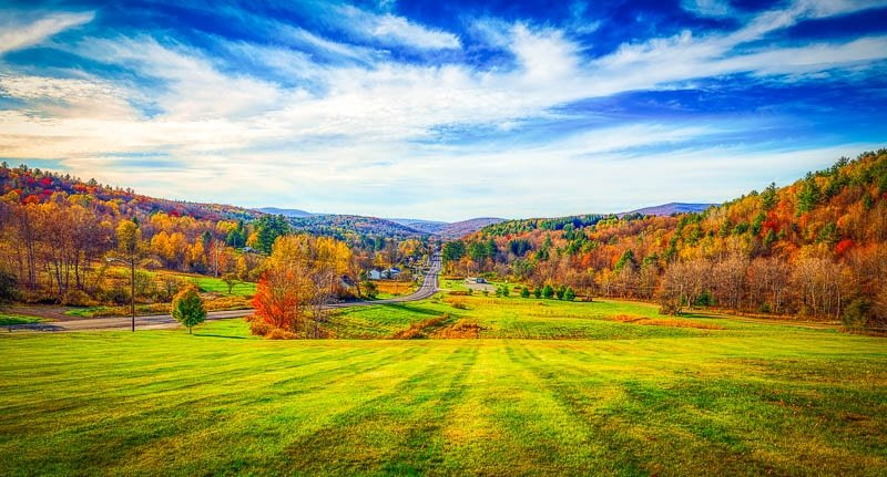 The Green Mountains is a sought-after destination for seeing the fall foliage.
