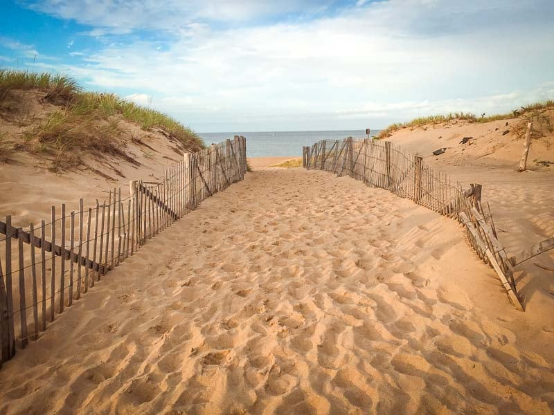 A beach in Provincetown, also known as P-Town. It's an awesome place for a New England road trip itinerary.
