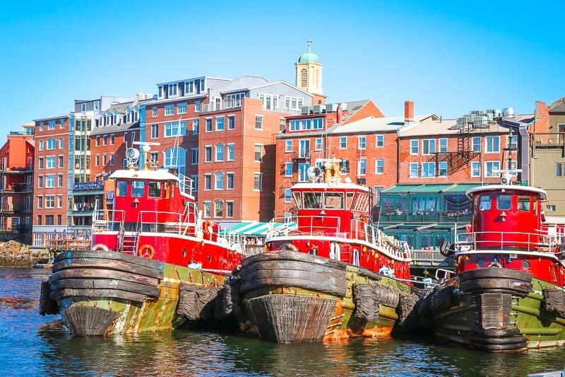 Tugboats in Portsmouth, New Hampshire.