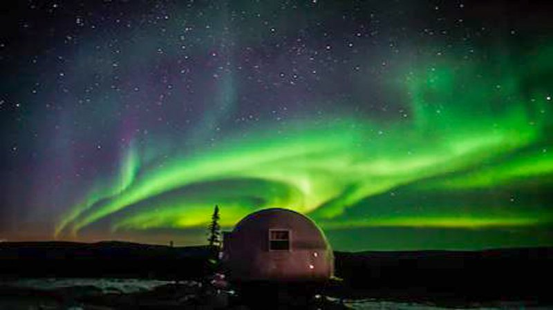 The Borealis Basecamp provides a unique northern lights rental experience.
