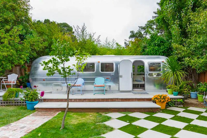 This immaculate airstream is one of the coolest vacation rentals in the USA.