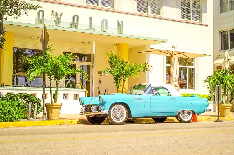 Ocean Drive is a must see in Miami on the east coast USA.