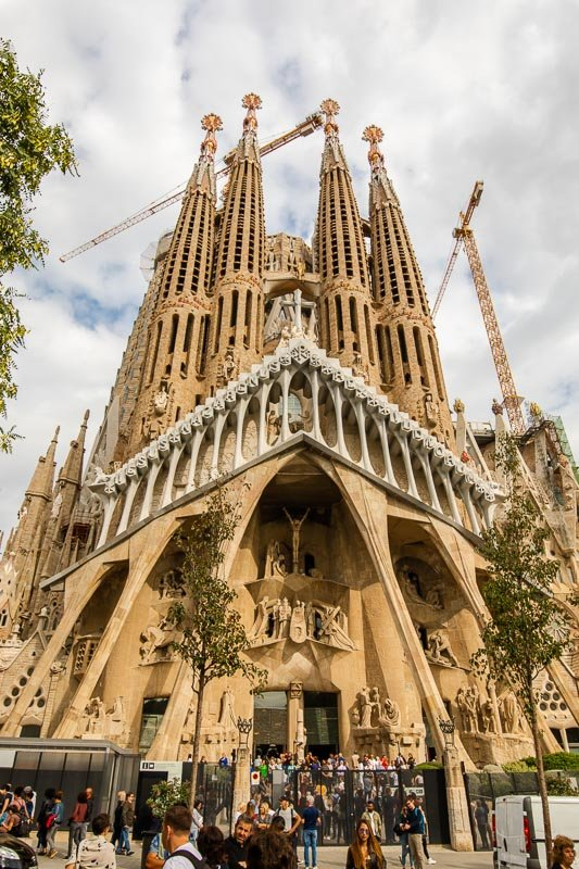 The Sagrada Familia is a great photo spot.