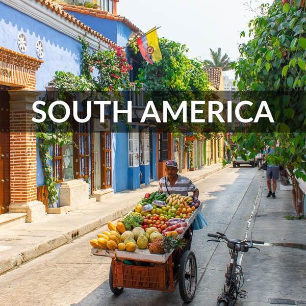 South America destinations cover photo