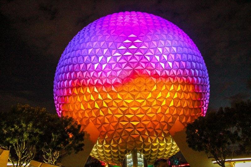 Epcot at Disney in Florida.