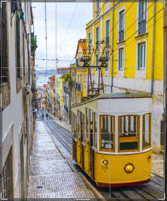 Lisbon, Portugal rule of thirds photography tip