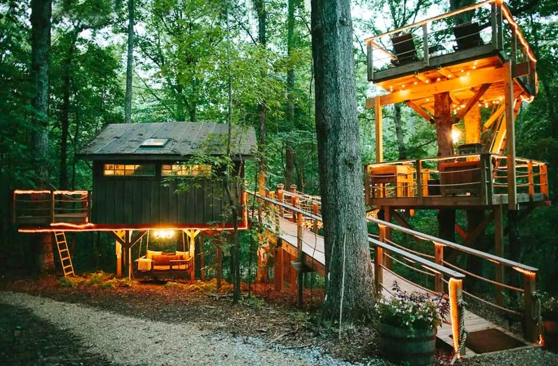 This majestic treehouse in South Carolina is one of the coolest Airbnbs on the East Coast of the US.