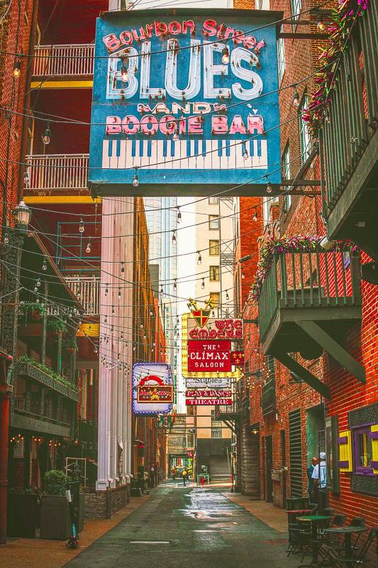 Printer's Alley in Nashville, Tennessee.