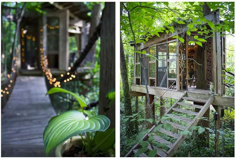 This treehouse is consistently ranked one of the best vacation rentals in America.