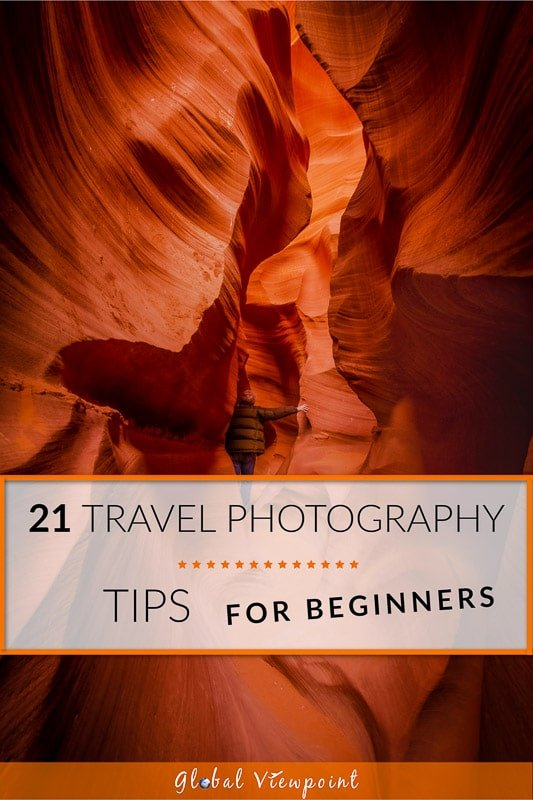 Travel photography tips for beginners Pinterest image
