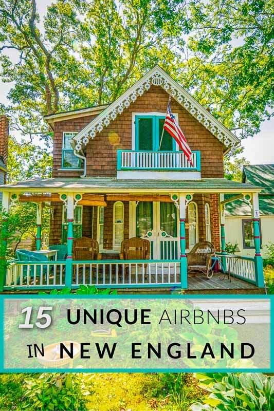 Most unique Airbnbs and vacation rentals in New England pin