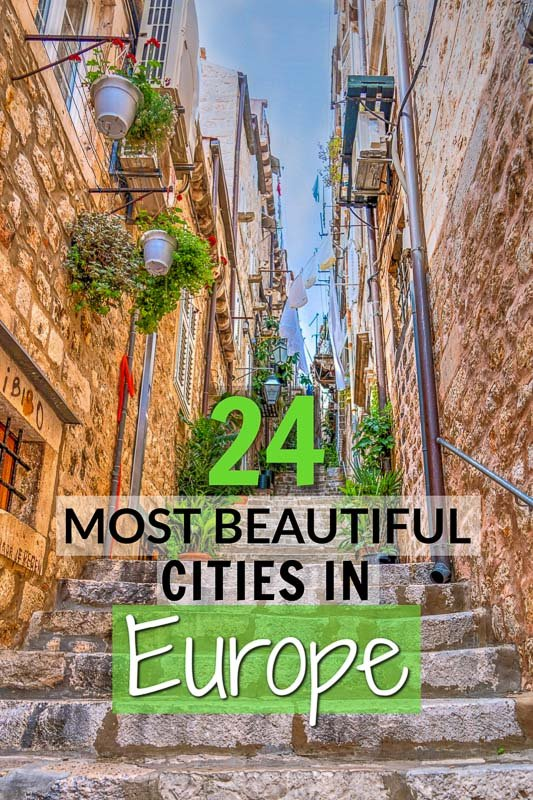 Europe's most beautiful cities to visit pinterest pin
