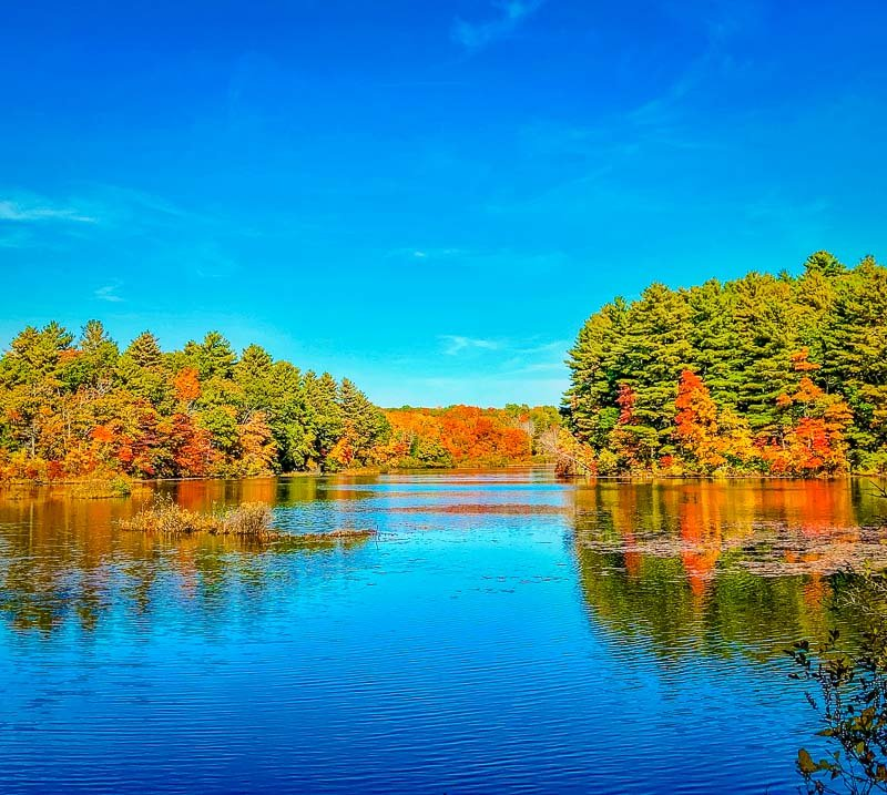 Fall in New Hampshire looks something like this